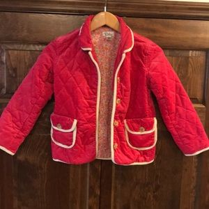 Lilly Pulitzer corduroy quilted jacket sz 8 girls